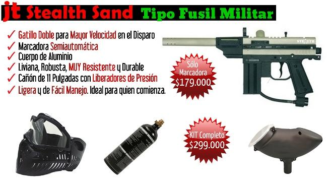 marcadora-paintball-JT-Stealth- Sand