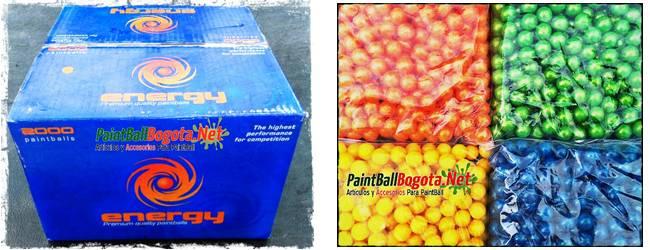 nuevas bolas paintball